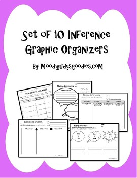 Inference Graphic Organizers