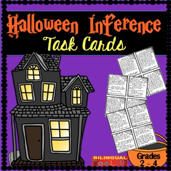 Inference Halloween Task Cards in English 2-4