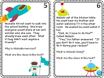 Inference Task Cards PLUS 3 Bonus Inference Small Group Center Games
