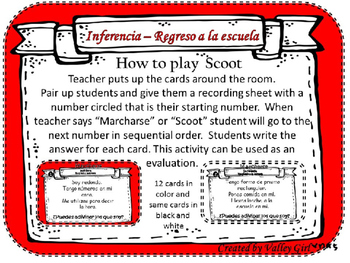 Inference -Inferencia Back to school