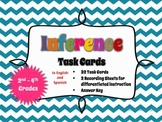 Inference / Inferencia Task Cards - English & Spanish