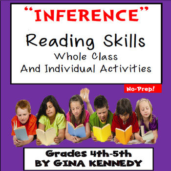Inference Reading Practice, Whole Class and Individual Activities