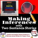 Infer and Make Inference Statements RL.9-10.1, RL.11-12.1, RI.9-10.1, RI.11-12.1