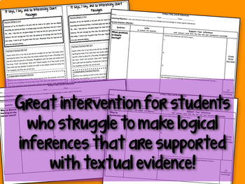 Inference Intervention Activity-Using the It Says, I Say, and So Strategy