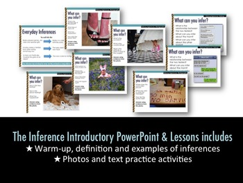 Inference: Introductory PowerPoint & Activities for Secondary (Fully Editable)
