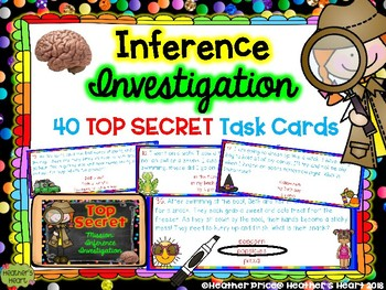 Inference Investigation: 40 TOP SECRET Task Cards