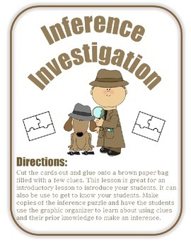 Inference Investigation Activity (Great Back to School Activity!)