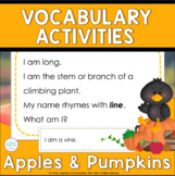 Autumn Apples and Pumpkins | Fall Vocabulary Riddle Activities
