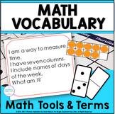 Math Vocabulary Riddle Activities