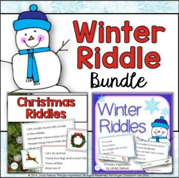 Winter and Christmas Vocabulary Riddles Bundle