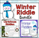 Christmas Riddles and Winter Riddles Vocabulary Bundle