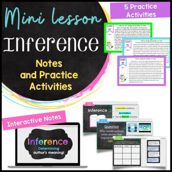 Inference Mini Lesson With Notes And Activity For Middle School