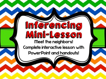 Inference Mini-Lesson: Meet the Neighbors