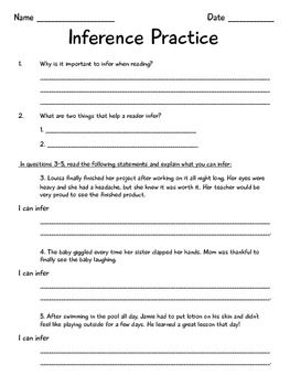 Inference Mini-Lesson Packet