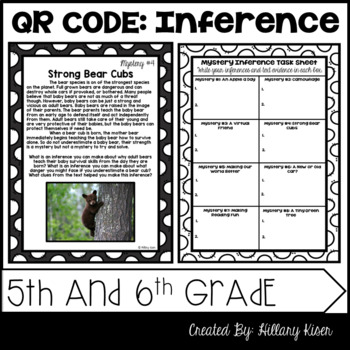 QR Code Inferences: 5th and 6th Grade