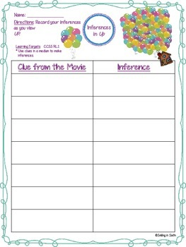 "Inference Organizer for the Movie ""Up"""