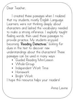 Inference Passages - Character Feelings