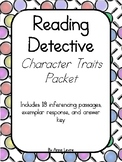 Inference Passages - Character Traits