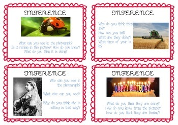 Inference Picture Task Cards - Differentiated - Guided Reading