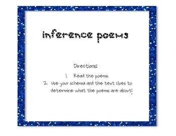 Inference Poems -What Am I? FREEBIE