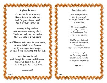 Inference Poems -Who Am I? FREEBIE