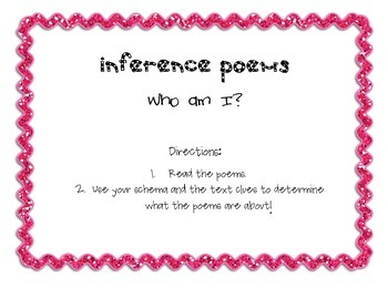Inference Poems -Who Am I? FREEBIE