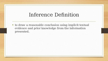 Inference PowerPoint with Pixar Videos