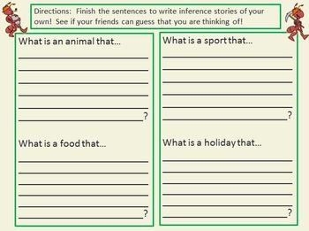 """Inference Practice Bundle """"I have..Who has?"""" Games ESL Vocabulary Too"""