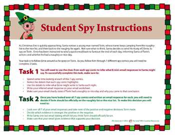 Christmas Inference Practice – Write the Room Comic Strips