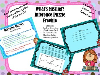 What's Missing?-Inference Puzzle Station Freebie