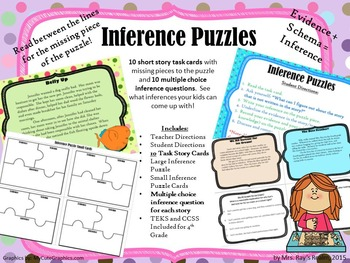 What's Missing? Inference Station with Task Cards and Questions