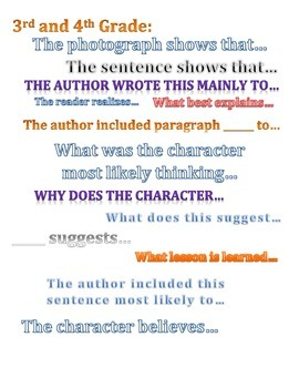 Inference Question Stems