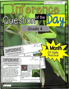 Inference Question of the Day (Grade 4):   A Month of Daily Practice