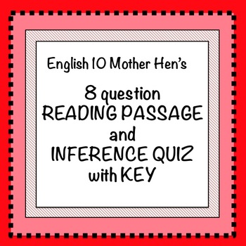 Inference Quiz with Key