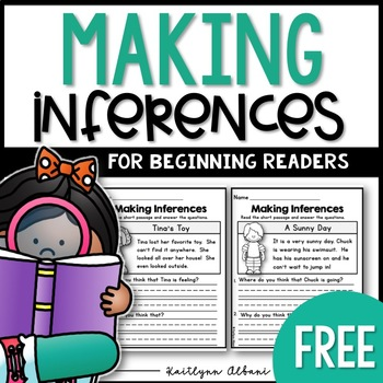 Inference Reading Comprehension Practice - FREE