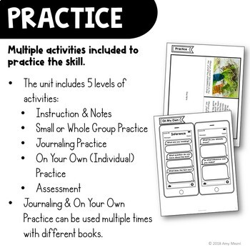 Inference Reading Strategy Unit: Notes, Practice, & Assessment