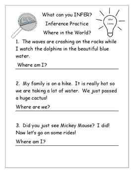 Inference ~ Reading strategy