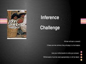 Inference Review Game for The Pearl by John Steinbeck (Powerpoint)