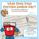 Making Inferences Riddle Task Card