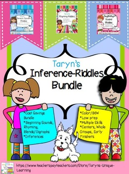 Inferring- Beginning Sounds, Rhyming, Blends/Digraphs Bundle