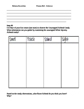 Inference Science Process Skill Lesson plans