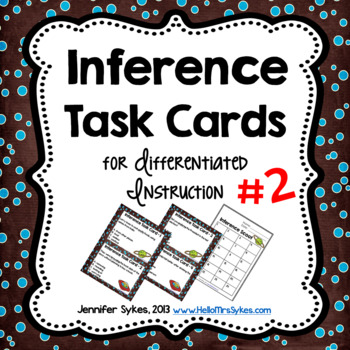 Inference Task Cards Scoot Assessment