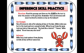 Inference Skill Practice Cards