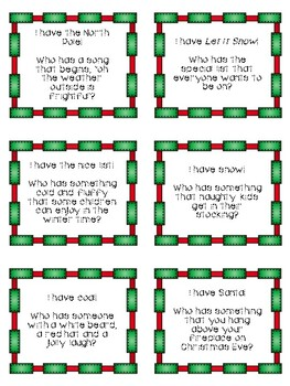 Inference Skills Game: I Have, Who Has? Holiday Edition