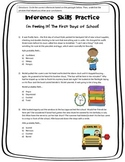 Inference Skills Practice: I'm Feeling It! The First Week