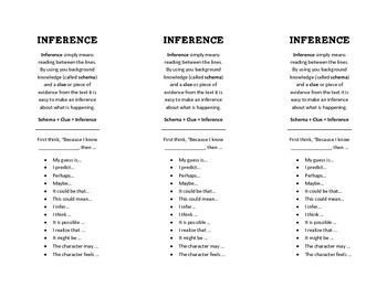 Inference Starter Phrase Bookmark