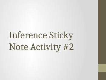 Inference Sticky Note Activity (Easier)