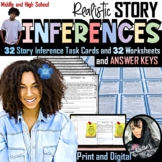 Inference Short Story Task Cards, Worksheets, and Answer K