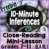 10-Minute Inferences - RL 1 Read Story, Draw Conclusions, Inferences, Imagery