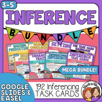 Inference Task Card Bundle - Inferencing Reading Strategy